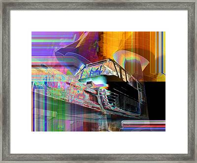 Monorail And Emp Framed Print