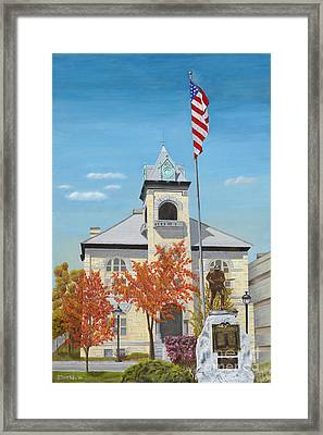 Monroe County Courthouse Framed Print