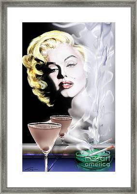 Monroe-seeing Beyond Smoke-n-mirrors Framed Print by Reggie Duffie
