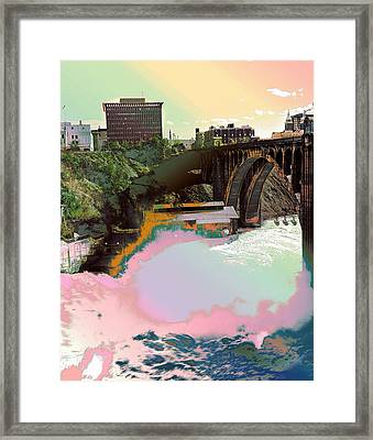 Framed Print featuring the photograph Grunge Monroe Street Plant  by Robert G Kernodle