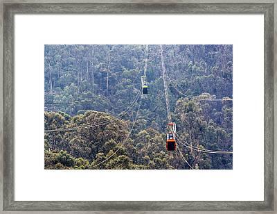 Monserrate Aerial Tramway Framed Print by Jess Kraft