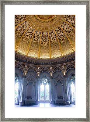 Framed Print featuring the photograph Monserrate Palace Room by Carlos Caetano