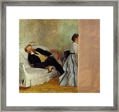 Monsieur And Madame Edouard Manet Framed Print