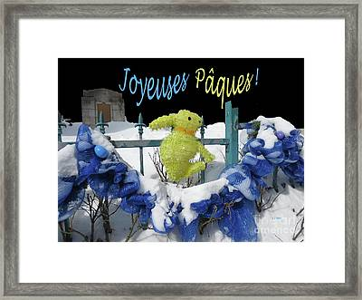 Monsieur Lapin Dit Framed Print by Dominique Fortier