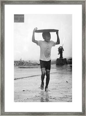 Monsoon 3 Framed Print by Jez C Self