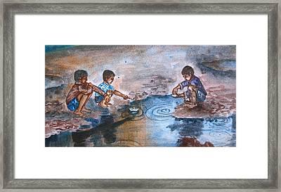 Monsoon Children Framed Print