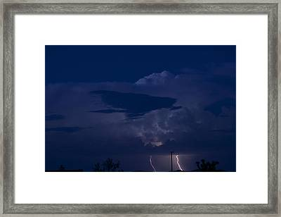 Monsoon Cloud And Lightening 20 Framed Print