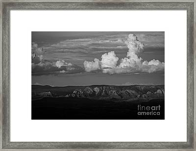 Framed Print featuring the photograph Monsoon Clouds Over Sedona by Ron Chilston