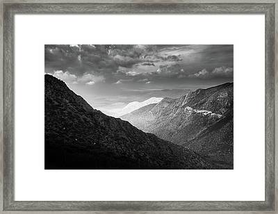 Framed Print featuring the photograph Monsoon Clouds Over Storm Canyon by Alexander Kunz