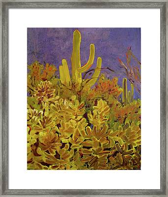 Framed Print featuring the painting Monsoon Glow by Julie Todd-Cundiff