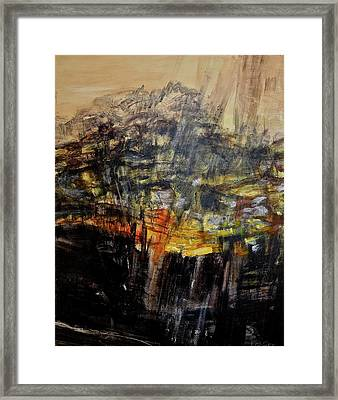 Monsoon Light Triptych - Right Panel Framed Print by Bonnie See