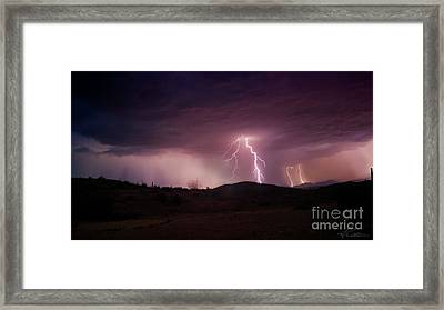 Framed Print featuring the photograph Monsoon Lightning by Anthony Citro