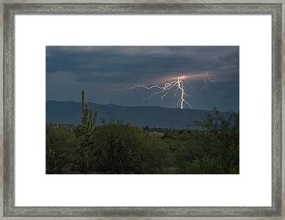 Framed Print featuring the photograph Monsoon Lightning by Dan McManus