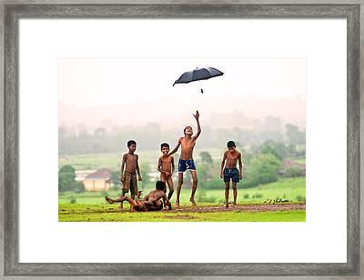Monsoon Mania Framed Print by Pramod Bansode