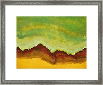 Monsoon Season Original Painting Framed Print