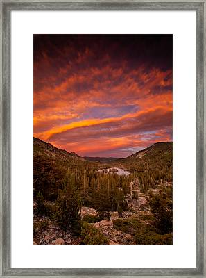 Monsoon Sky Framed Print