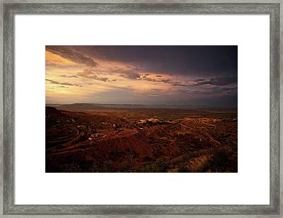 Framed Print featuring the photograph Monsoon Storm Afterglow by Ron Chilston