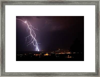 Framed Print featuring the photograph Monsoon Storm by Ron Chilston
