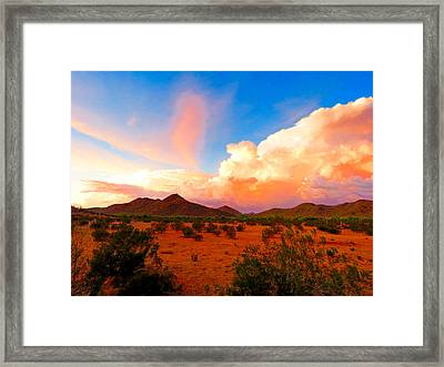 Monsoon Storm Sunset Framed Print