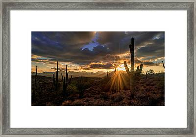 Framed Print featuring the photograph Monsoon Sunburst by Anthony Citro