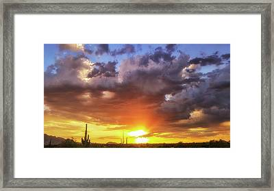 Framed Print featuring the photograph Monsoon Sunset by Anthony Citro