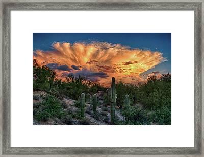 Monsoon Sunset Framed Print