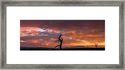 Monsoon Sunset Framed Print by Elena E Giorgi