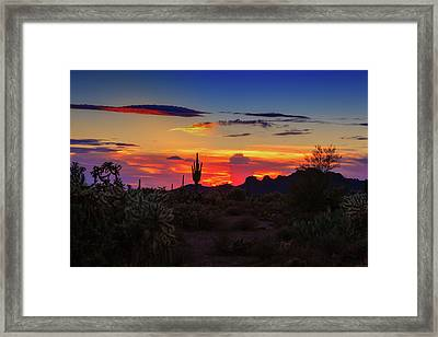 Framed Print featuring the photograph Monsoon Sunset by Rick Furmanek