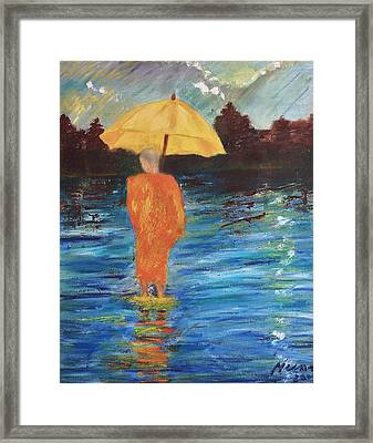 Monsoon Walk Framed Print by Neena Alapatt