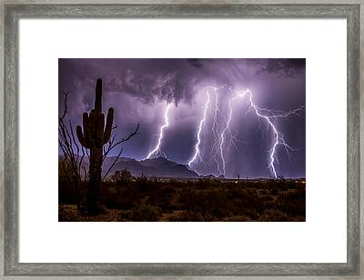 Monsoonal Beauty Framed Print by Chuck Brown