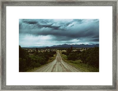Monsoons From The Meadows Framed Print by Jason Coward