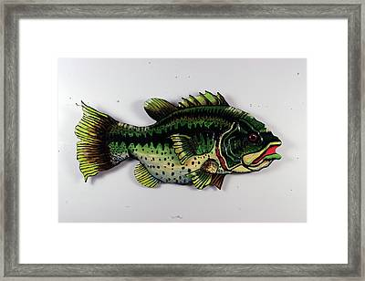 Monster Bass Framed Print by Bob Crawford
