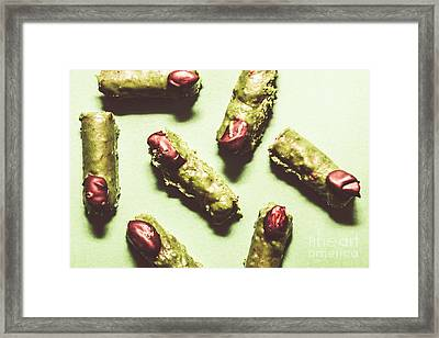 Monster Fingers Halloween Candy Framed Print by Jorgo Photography - Wall Art Gallery
