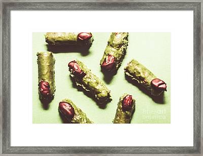 Monster Fingers Halloween Candy Framed Print