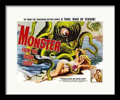 Monster From The Ocean Floor Framed Prints
