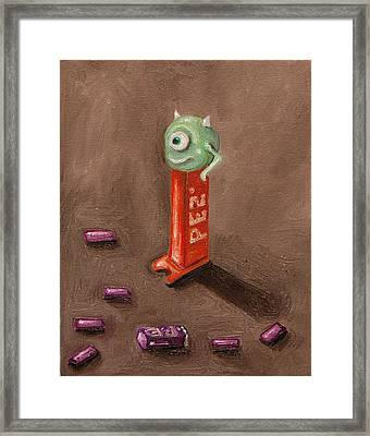 Monster Pez Framed Print by Leah Saulnier The Painting Maniac