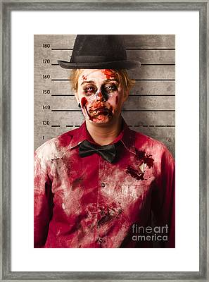 Monster Police Mug Shot. Creepy Criminal Framed Print