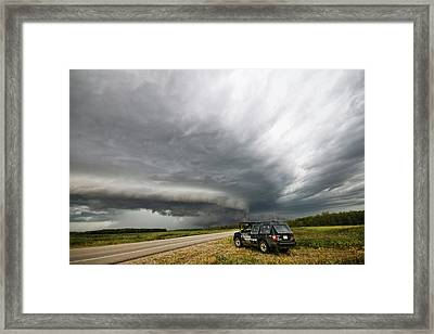 Monster Storm Near Yorkton Sk Framed Print