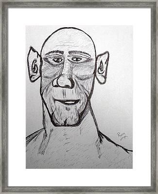 Monster Tom And His Radar Ears Framed Print by Robert Margetts