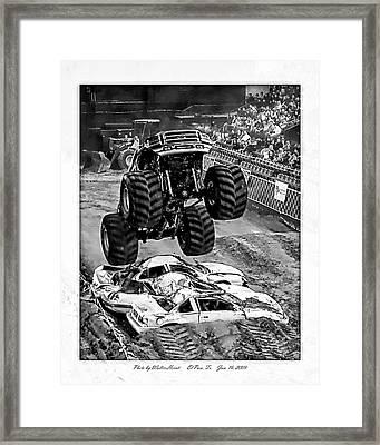 Monster Truck 2b Framed Print