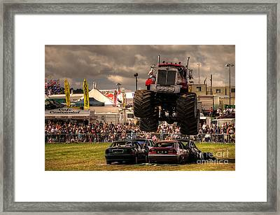 Monster Truck Destruction  Framed Print by Rob Hawkins