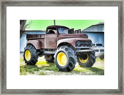 Monster Truck - Grave Digger 3 Framed Print by Lanjee Chee