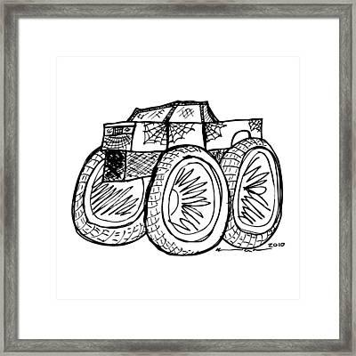 Monster Truck Framed Print by Karl Addison