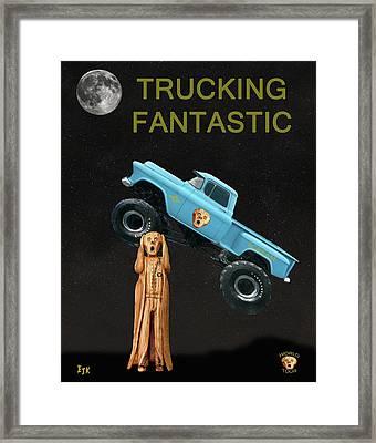 Monster Truck The Scream World Tour  Trucking Fantastic Framed Print by Eric Kempson