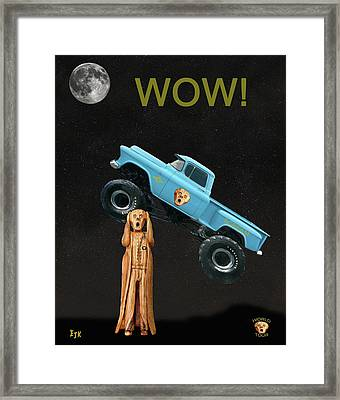 Monster Truck The Scream World Tour Wow Framed Print by Eric Kempson