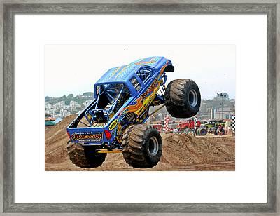 Monster Trucks - Big Things Go Boom Framed Print by Christine Till