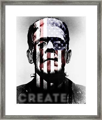 Monster Usa Framed Print by Create Art