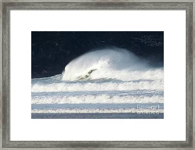 Framed Print featuring the photograph Monster Wave by Nicholas Burningham