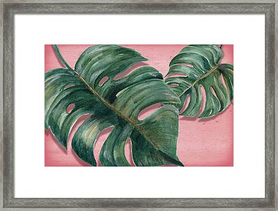 Monstera Leaf  Framed Print by Mark Ashkenazi