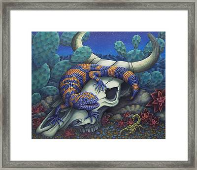 Monsters In The Night Framed Print